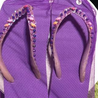 ビーチサンダル(紫)