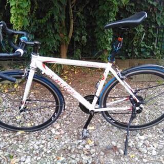 自転車 ロード デュアルシフト  フェンダー付き