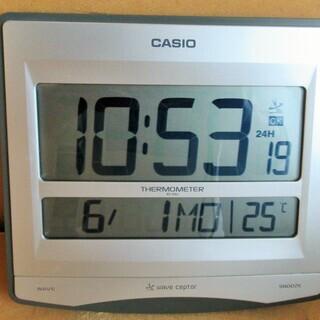 ☆カシオ CASIO ID-26J 温度計付き電波時計◆カレンダ...
