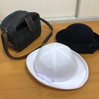 園バッグ、夏用帽子、冬用帽子 鹿児島さくら幼稚園