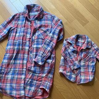 ビームスの親子お揃いシャツセット 綿100%