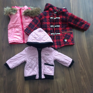 女の子 コート ベスト3着の画像