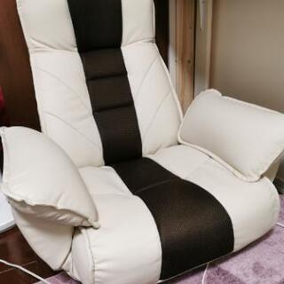 【美品】座椅子/ソファー 1人掛け リクライニング 回転