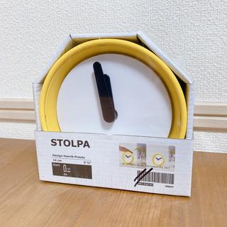 ★ IKEA  置き時計 STOLPA ストルパ イエロー 未使用