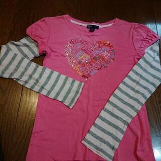 【無料】女の子 長袖Tシャツ 2枚セット 130、140