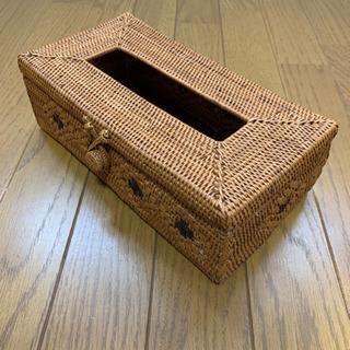 ティッシュボックス バリ島のアタ製品