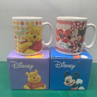未使用/ディズニー/マグカップ くまのプーさん/ミッキーマウス