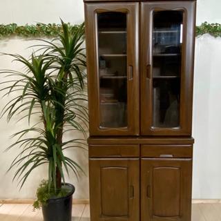 ✨インテリアハウス✨ 素敵な食器棚🔶天然木 キャビネット🔶2枚...