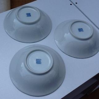 ※1枚100円【3枚あり】未使用品の素敵な和食器 小皿 小鉢 花柄 紺藍色 印もあり  − 京都府