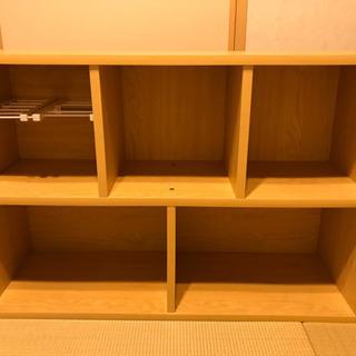 【収納】カラーボックス+突っ張り棚