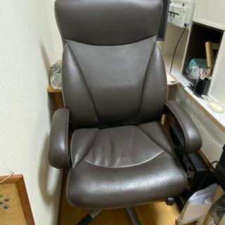 社長の椅子★ニトリワークチェア エバーツ牛革★ブラウン