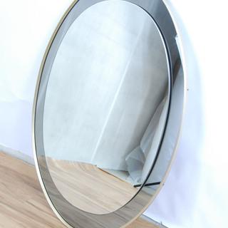 2542 鏡 ミラー オーバル 楕円形 姿見 壁掛け ウォールミ...