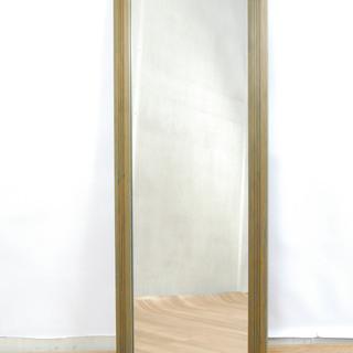 2546 鏡 姿見 木製フレーム ミラー 壁掛け ウォールミラー...