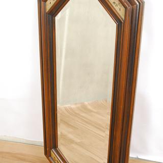 2547 イタリア製 アンティーク ロココ調 鏡 木製フレーム ...