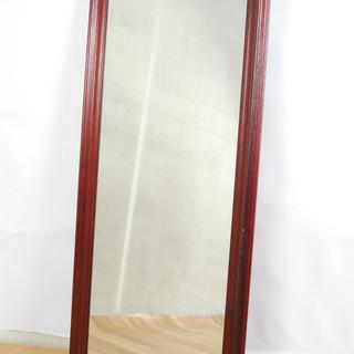 2549 鏡 姿見 木製フレーム 壁掛け ウォールミラー 117...
