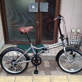 MIDI[ミディ] 20吋折り畳み自転車 外装6段/シルバー