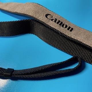 Canon  純正 カメラ ストラップ グレイ系 縁が黒ラ…