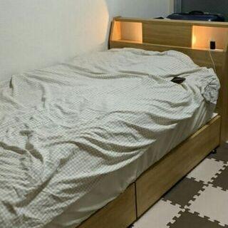 シングルベッドを売ります。