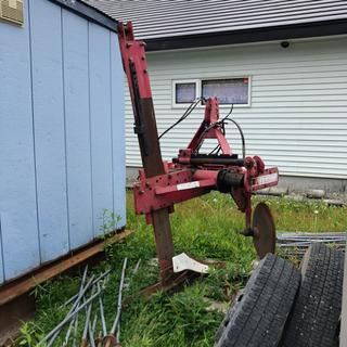 ゴボウ 堀り機 収穫 掘る機械 動作品 ハタケヤマ技研 中…