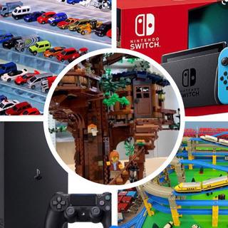 レゴ、トミカ、プラレール、ゲーム、電化製品等。