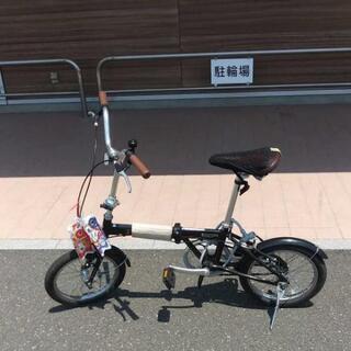 【ネット決済・配送可】キャプテンスタッグ折り畳み自転車