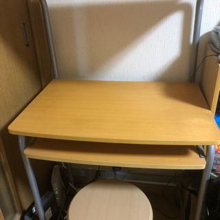 パソコンラックと椅子 1500円