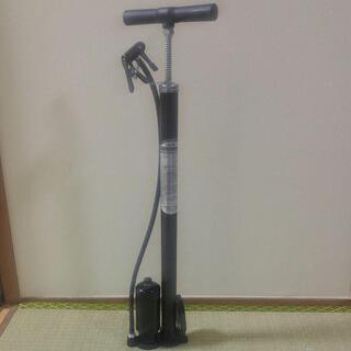N42) 自転車用高圧ポンプ タンク付き
