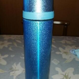 ステンレス水筒水色メタリック