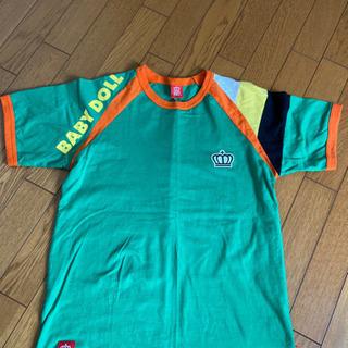 1度着用のみメンズMサイズ ベビードール Tシャツ緑色