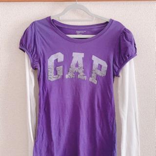 【美品】GAP Tシャツ 紫 パープル 長袖 ギャップキッズ