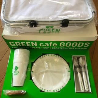 グリーンラベル キャンプ皿 set。4人用。