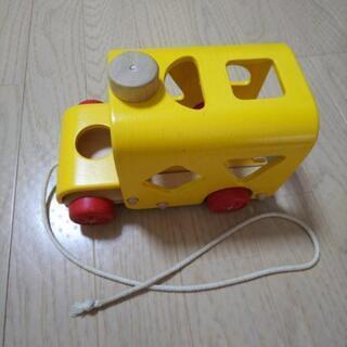 *商談中*7/10まで プラントイ 木のおもちゃ スクールバス ...