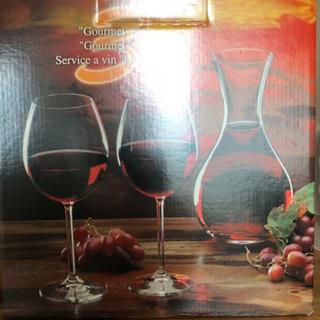 新品未使用 ボヘミアクリスタルワイングラス&デカンターセット