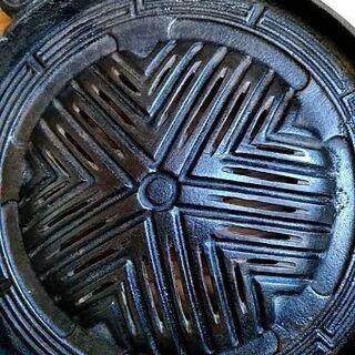 中古 鋳物 穴開きジンギスカン鍋