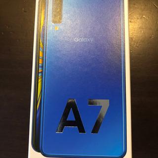 【値段下げました】Galaxy A7 ブルー/64GB/SIMフリー