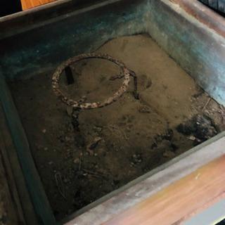 箱型 囲炉裏 いろり アンティーク 42×42