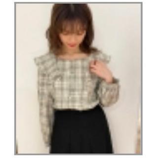 ●3500円購入 新品 ブラウス チェック 大人可愛い ガーリー