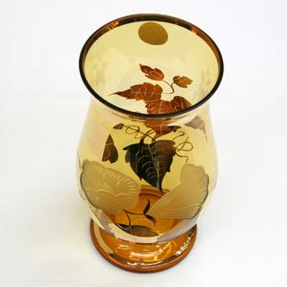 ボヘミア クリスタレックス 花瓶 クリスタルガラス フラワーベー...