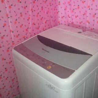 洗濯機 5k 送風乾燥 パナソニック NA-F50B2 ステンレス槽 ホース付きの画像