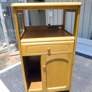カリモリ家具製 用途色々 電話・ファックス台 中古