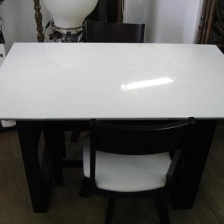 伸長式 ダイニング4点セット テーブル・回転式チェア✕2・ベンチチェア 食卓セット  - 家具