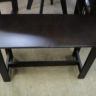伸長式 ダイニング4点セット テーブル・回転式チェア✕2・ベンチチェア 食卓セット  - 売ります・あげます