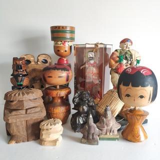 工芸品 日本人形、アイヌ人形等 11体