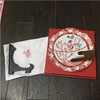 京東都 赤絵縁起干支皿 申 絵皿