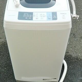 ☆日立 HITACHI NW-50A 5.0kg 全自動電気洗濯...