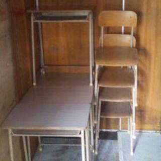 学童机と椅子のセット