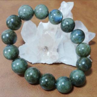 25【天然石】大玉ラブラドライト✴︎14mm/ブレスレット
