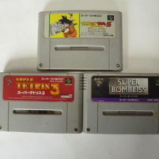 スーパーファミコ ソフト3本セット 黄ばみ有り 中古