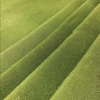 ❤️売り切れました❤️正絹  縮緬  はぎれ  オリーブグリーン