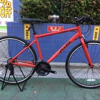 【クロスバイク】XSD T050 艶消しレッド スタンド・バルブ...